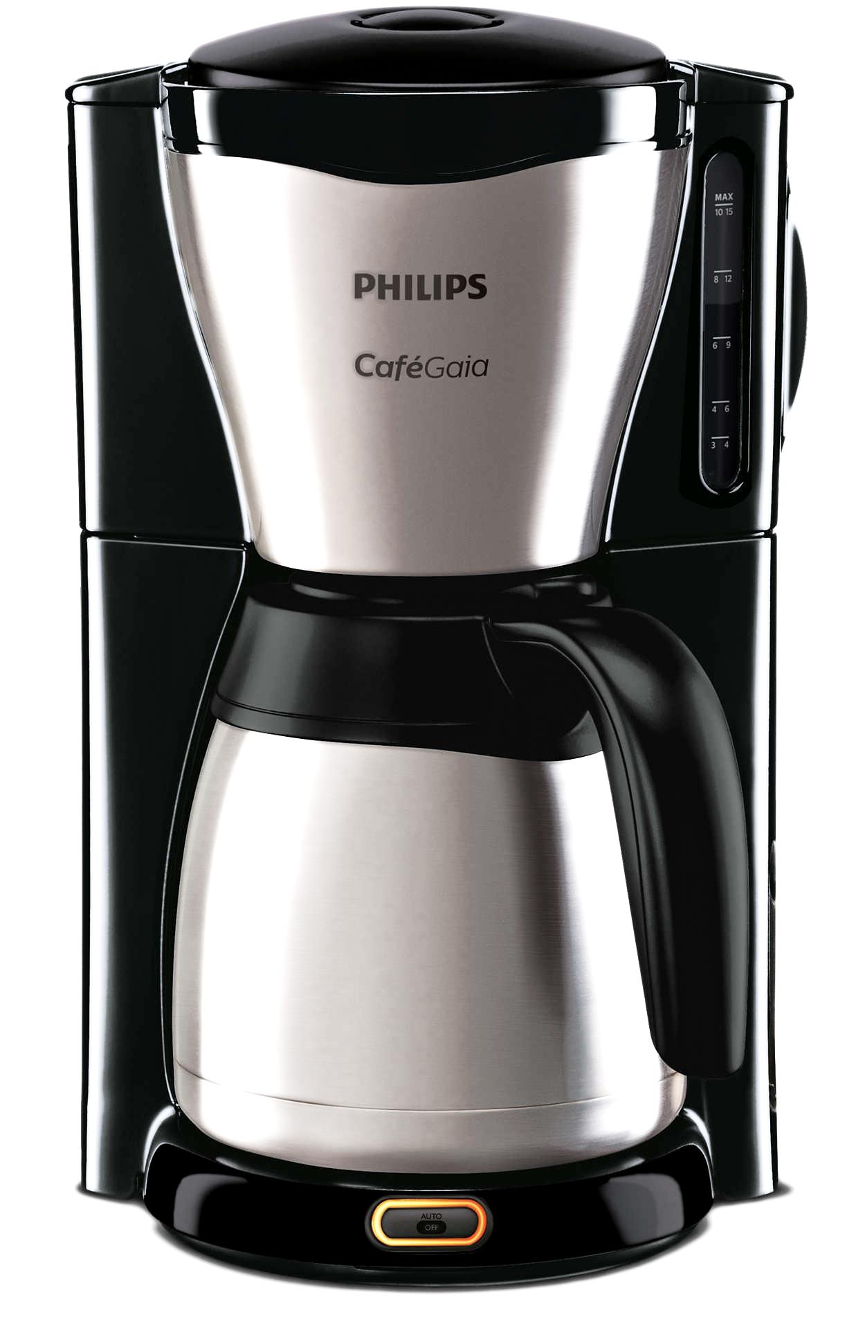 philips kaffee filtermaschine hd 7546 20 gaia edelstahl ebay. Black Bedroom Furniture Sets. Home Design Ideas