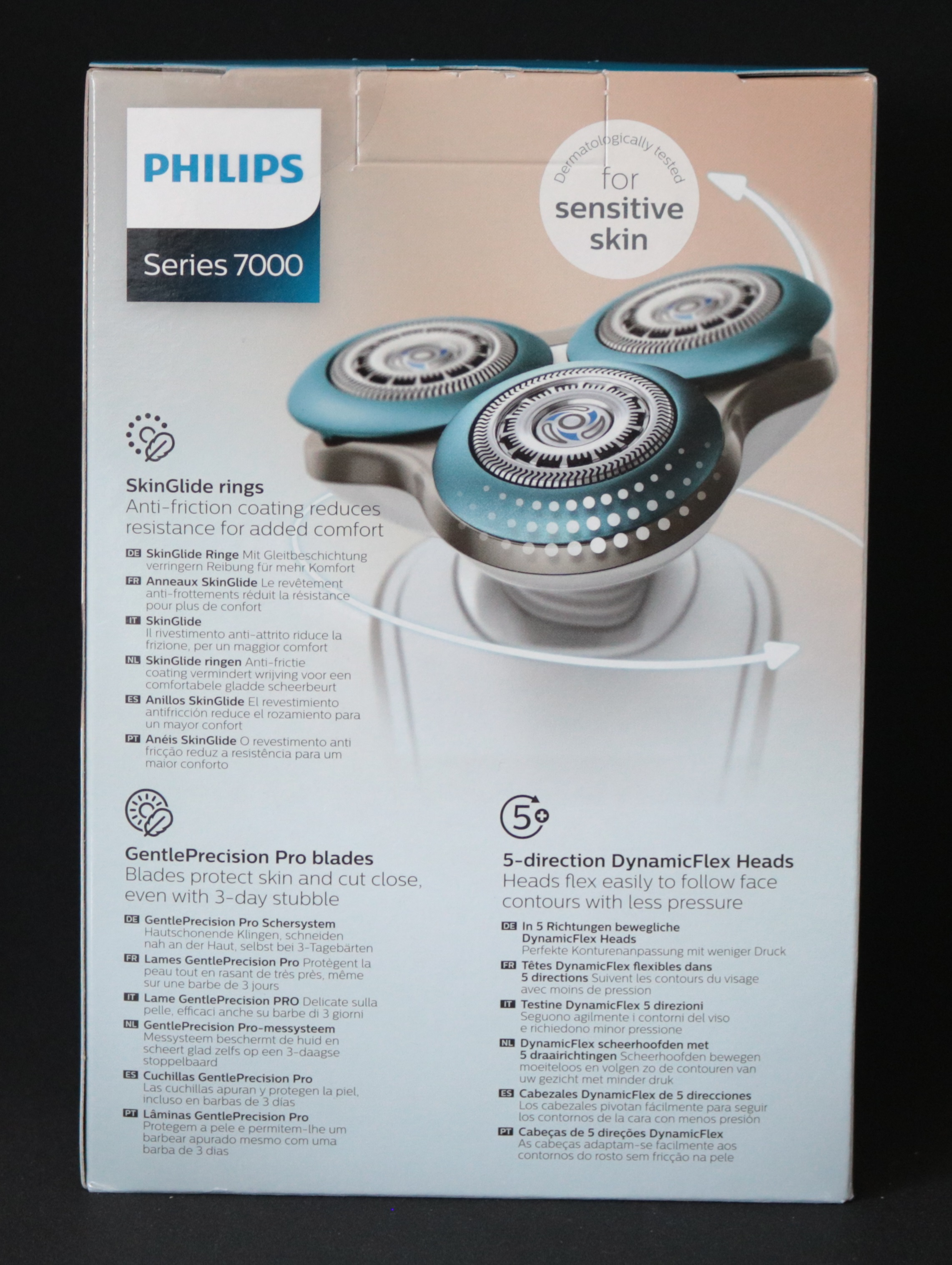 philips shaver series 7000 s7520 50 wet dry rasierer wei blau ebay. Black Bedroom Furniture Sets. Home Design Ideas