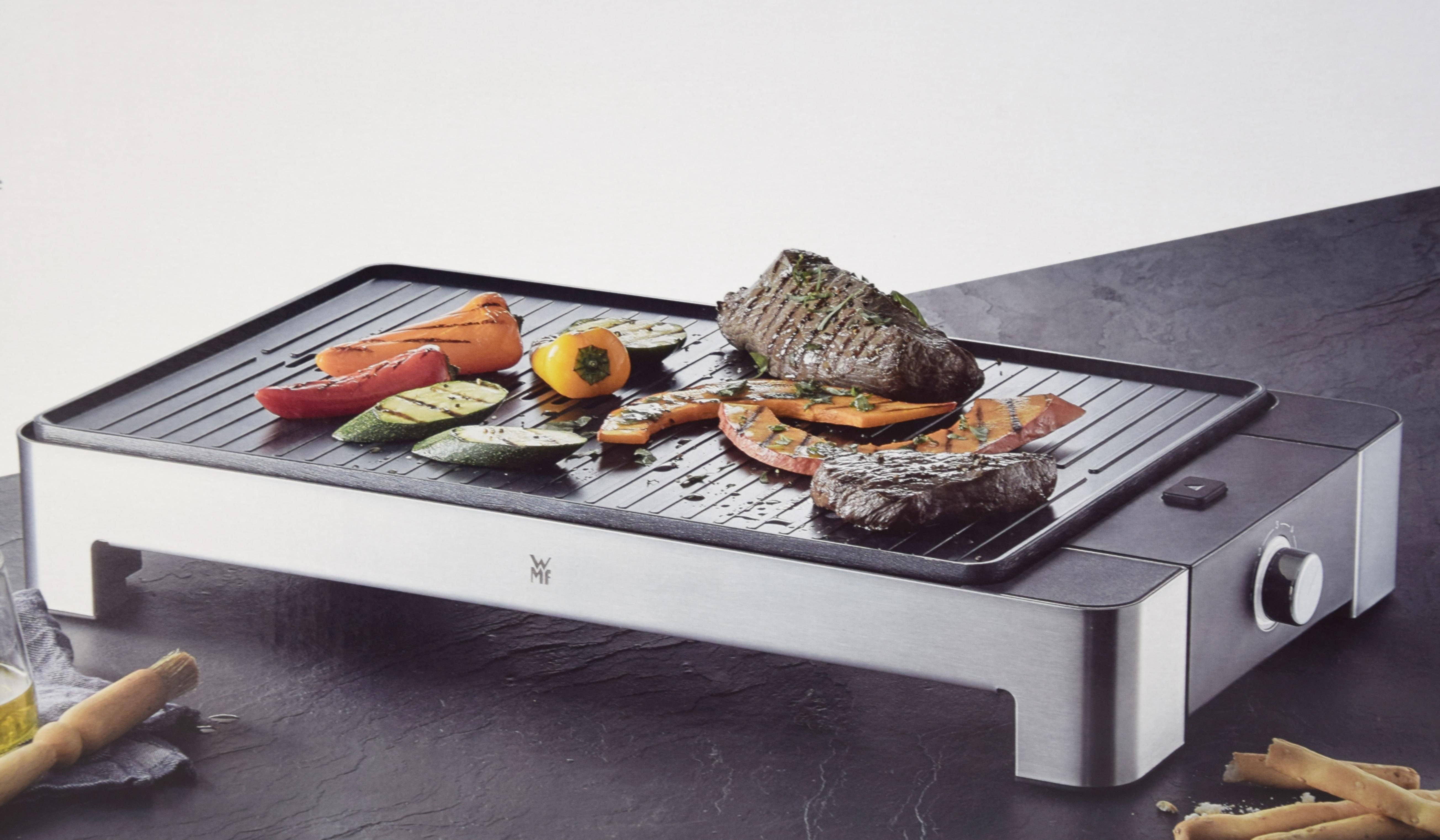 Wmf Elektrogrill Quadro : Wmf lono tischgrill quadro elektrogrill mit kompakter grillfläche